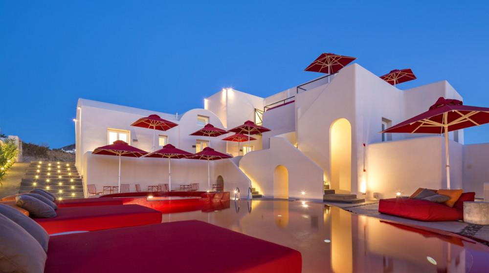 Art hotel santorini santorin iles cyclades for Meilleur hotel santorin