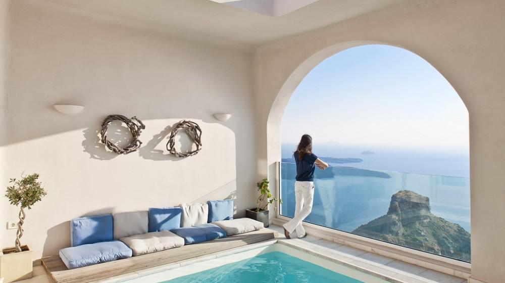 Hotel Con Piscina In Camera Santorini