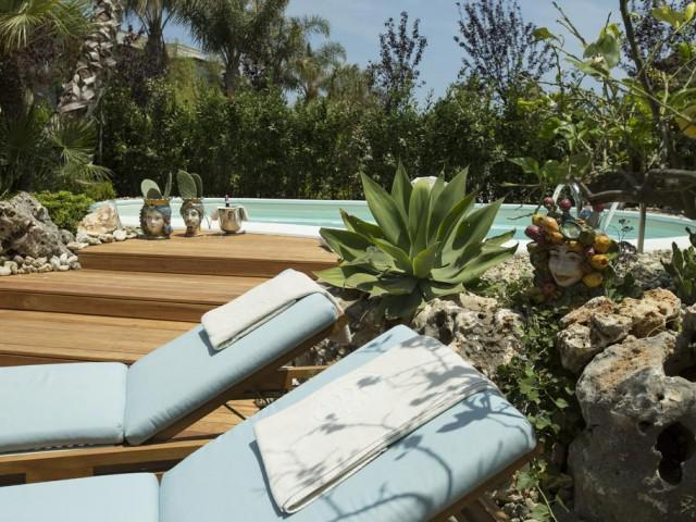 Junior Suite con piscina privada y con vistas al Jardin