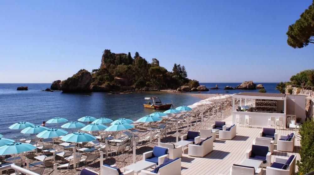 And some bungalows offer a la plage resort, italy, sicily, taormina bay, taormina, book room, book hotel