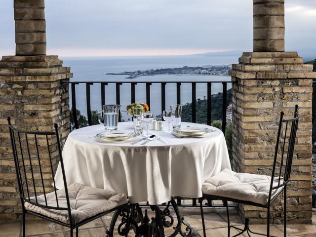 Appartement 1 Chambre, Mediterraneo avec terrasse, vue sur la mer et l'Etna