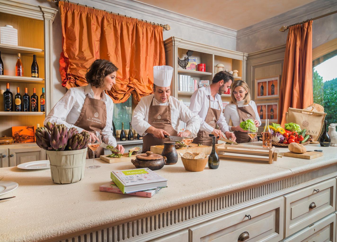 Chef d'un jour, Hôtels avec des cours de Cuisine